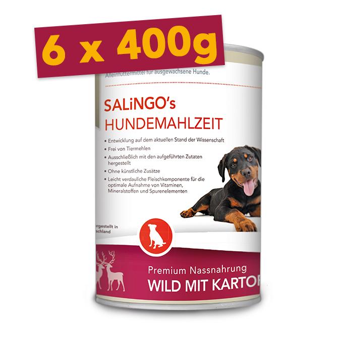 Wild mit Kartoffel und Zucchini - Mengeneinheit: 6 x 400g